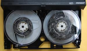 VHSテープカビ クリーニング前