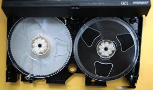 VHSテープクリーニング後
