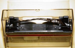 ミニDVテープ(しわ・伸び)修理前