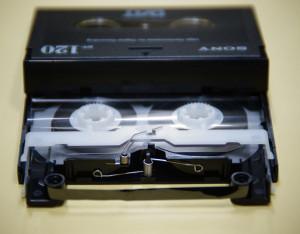 DATテープ修理後(切断)
