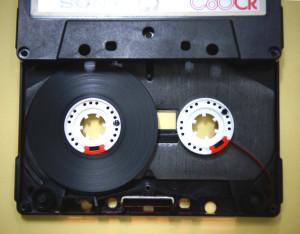 オーディオカセットテープ修理後