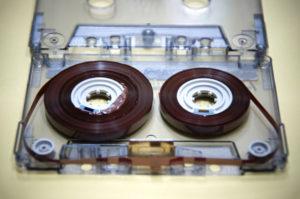 オーディオカセットテープ修理前