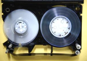 VHS-Cテープ修理後