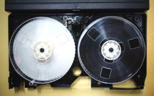 VHSテープカビ修理後