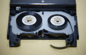 DATテープ修理前