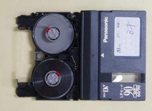 ミニDVテープ修理後