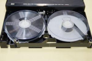 VHSテープ修理後
