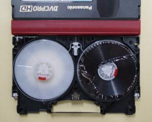 Panasonic DVCPRO HDテープ修理前