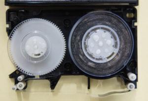 VHS-Cテープ修理前
